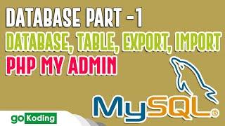 Belajar Membuat Database dan Tabel di Localhost PHP MyAdmin