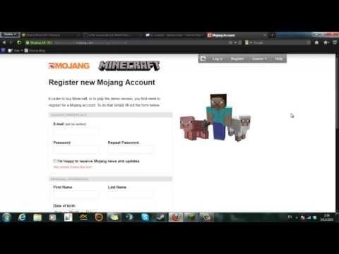 วิธีสมัคร minecraft.net แบบใหม่