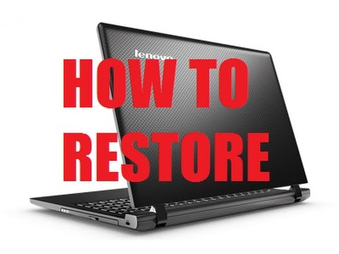 Lenovo Ideapad Factory Reset One Key Recovery - YT