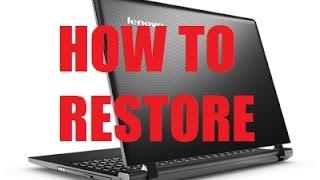 Lenovo Ideapad Factory Reset One key Recovery