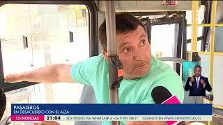 Alza de pasajes en Metro y Transantiago causa molestia en usuarios - CHV NOTICIAS