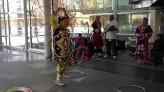 Native American Female Hoop Dancer