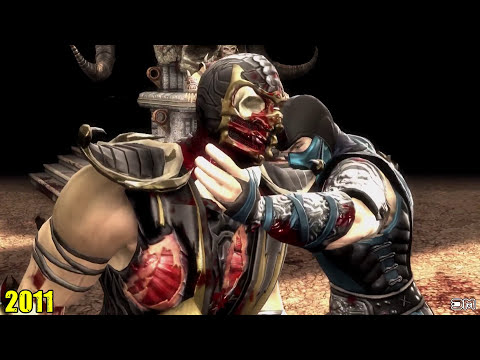 Evolution of All Original Mortal Kombat Finishing Moves (1992-2017)
