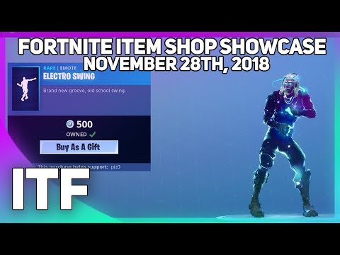 Fortnite Item Shop ELECTRO SWING IS BACK! [November 28th, 2018] (Fortnite Battle Royale)