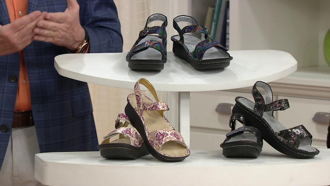 Alegria Leather Adjustable Sandals- Kora on QVC