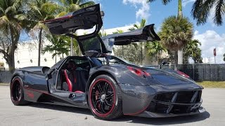 "Pagani Huayra ""Diablo"" Startup Sound and Revving Drive Interior Exterior in Prestige Imports Miami"