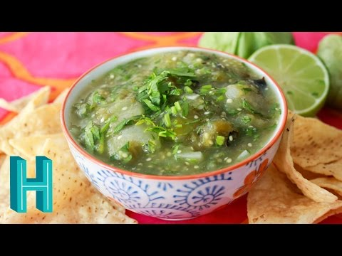 Salsa Verde - Tomatillo Salsa Recipe | Hilah Cooking