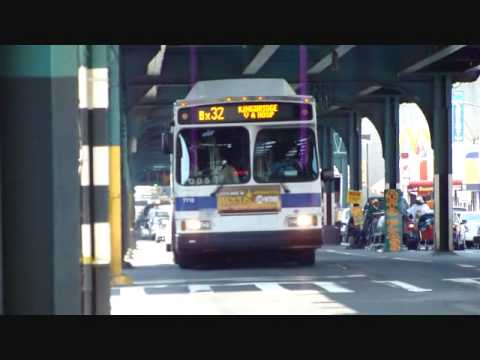 Mta Nyc Bus 2004 Orion Vii Cng Bx32 Bus 7712 7740 On Jerome Ave