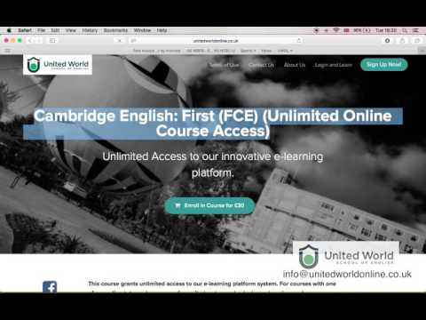 How to use the e-learning platform United World Online