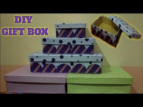 Cara Membuat Kotak Kado Tanpa Lem Tembak | DIY Gift Box Simple