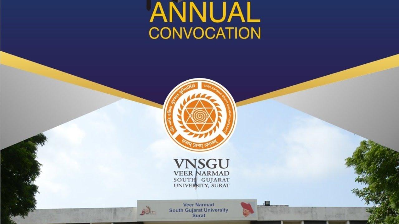 Vnsgu Bsc Degree Certificate : Welcome To Veer Narmad ...