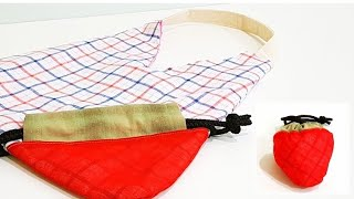 Diy Tomato Shopping Bag | Super Cute Sewing Tutorial 【番茄购物包教学,可爱吧!】#HandyMum ❤❤