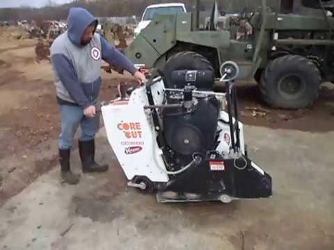 "Where To Find Gas >> Core Cut 3500J Kohler Gas 40 hp 26"" Walk Behind Concrete ..."