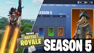 Fortnite SEASON 5 TIER 100 Battlepass REWARD Fuite? / Jet Packs Coming - Plus!
