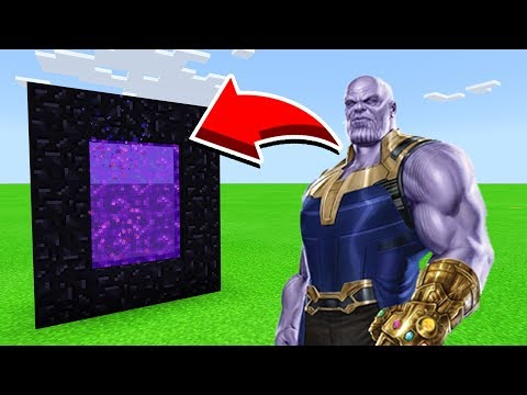How To Make A Portal To THANOS  in Minecaft Pocket Edition/MCPE