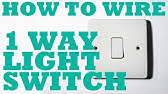 How To Wire A 1 Way Light Switch One Way Lighting Explained Youtube
