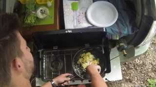 #priuscafe: Making Food On The Road - Eggs Florentine With Feta Cheese