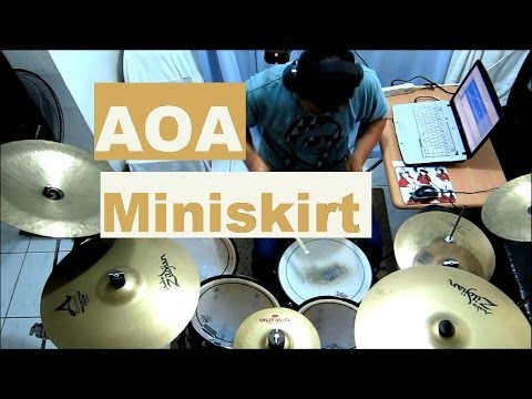 AOA - Miniskirt - Drum Cover - 에이오에이 - 짧은 치마