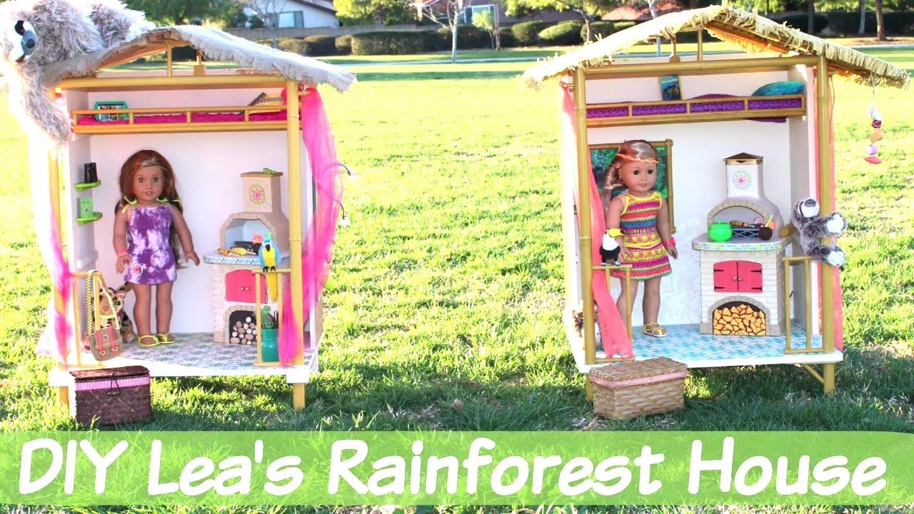 DIY American Girl Doll Lea's Rainforest House - YouTube