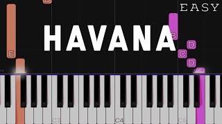 Havana - Camila Cabello ft. Young Thug | EASY Piano Tutorial