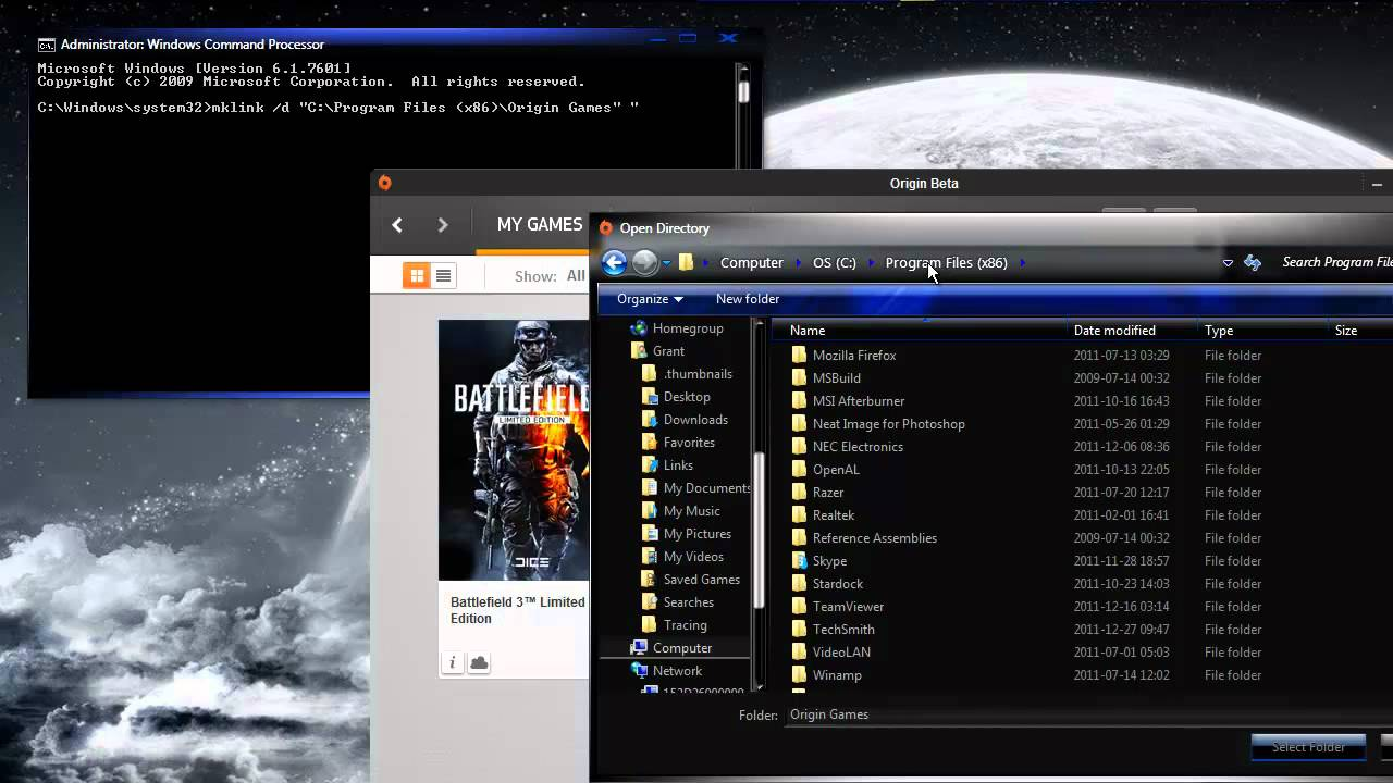 how to move games to different drive