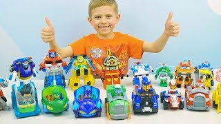 Щенячий Патруль на машинках против Героев в Масках. Автогонки для маленьких детей PAW PATROL