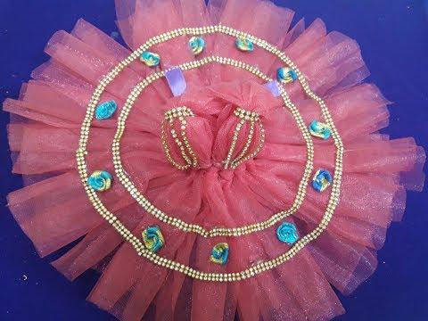 DIY | No Sew Net Fabric Dress of Bal Gopal -  Step by Step Tutorial - Summer Special