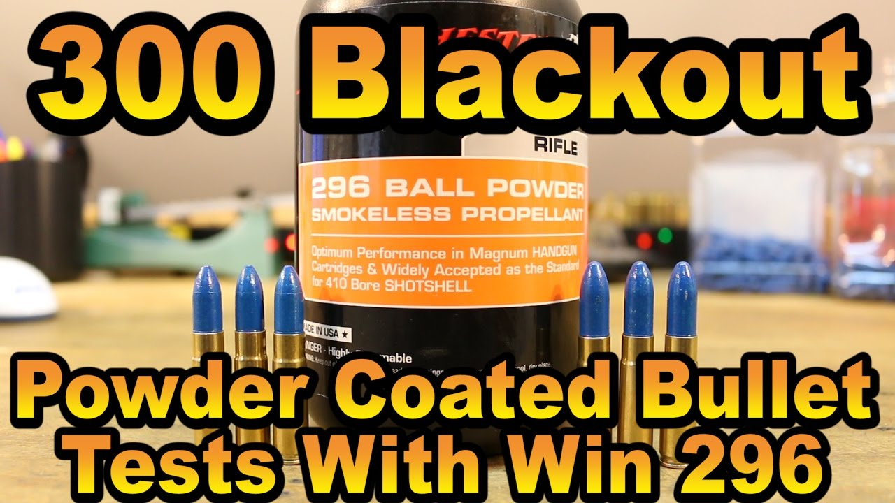 300 BLK - Powder Coated Bullets with Winchester 296