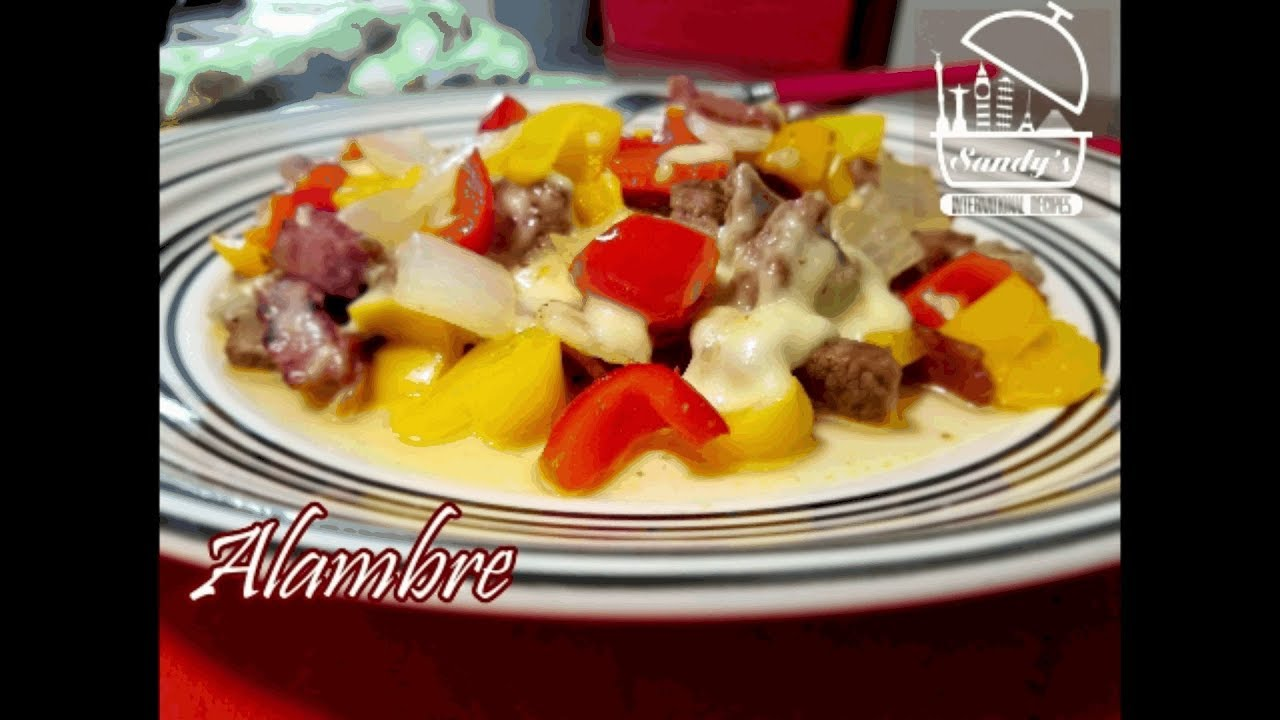 Alambre espaol english mexican food youtube alambre espaol english mexican food sandys international recipes forumfinder Gallery