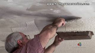 How to Fix Drywall - Removing Popcorn Texture - Drywall Repair