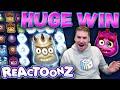 HUGE WIN on Reactoonz Slot - £10 Bet!