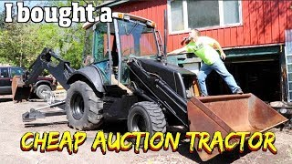 I bought a Cheap John Deere Tractor Loader Backhoe on an Auction