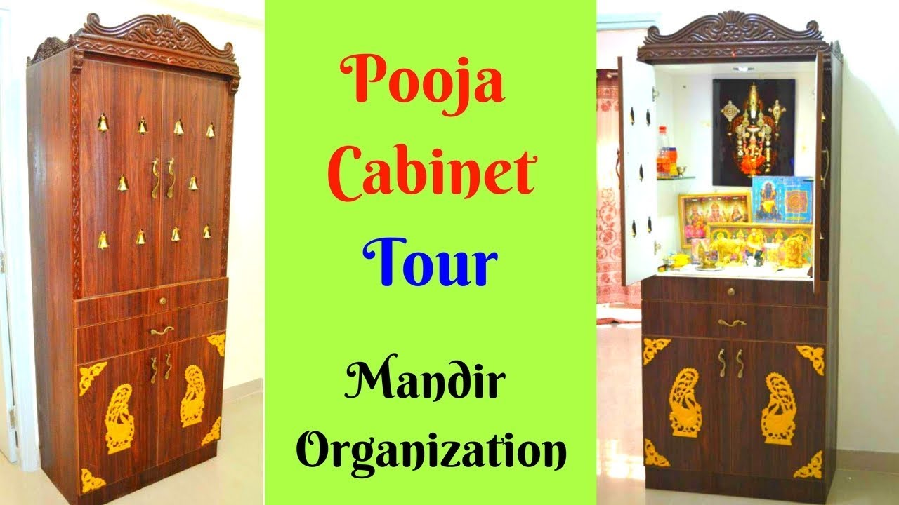 Pooja Cabinet Tour   Design,organising And Decoration   Tips And Ideas