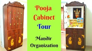 Pooja Cabinet Tour - Design,organising and decoration - Tips and ideas