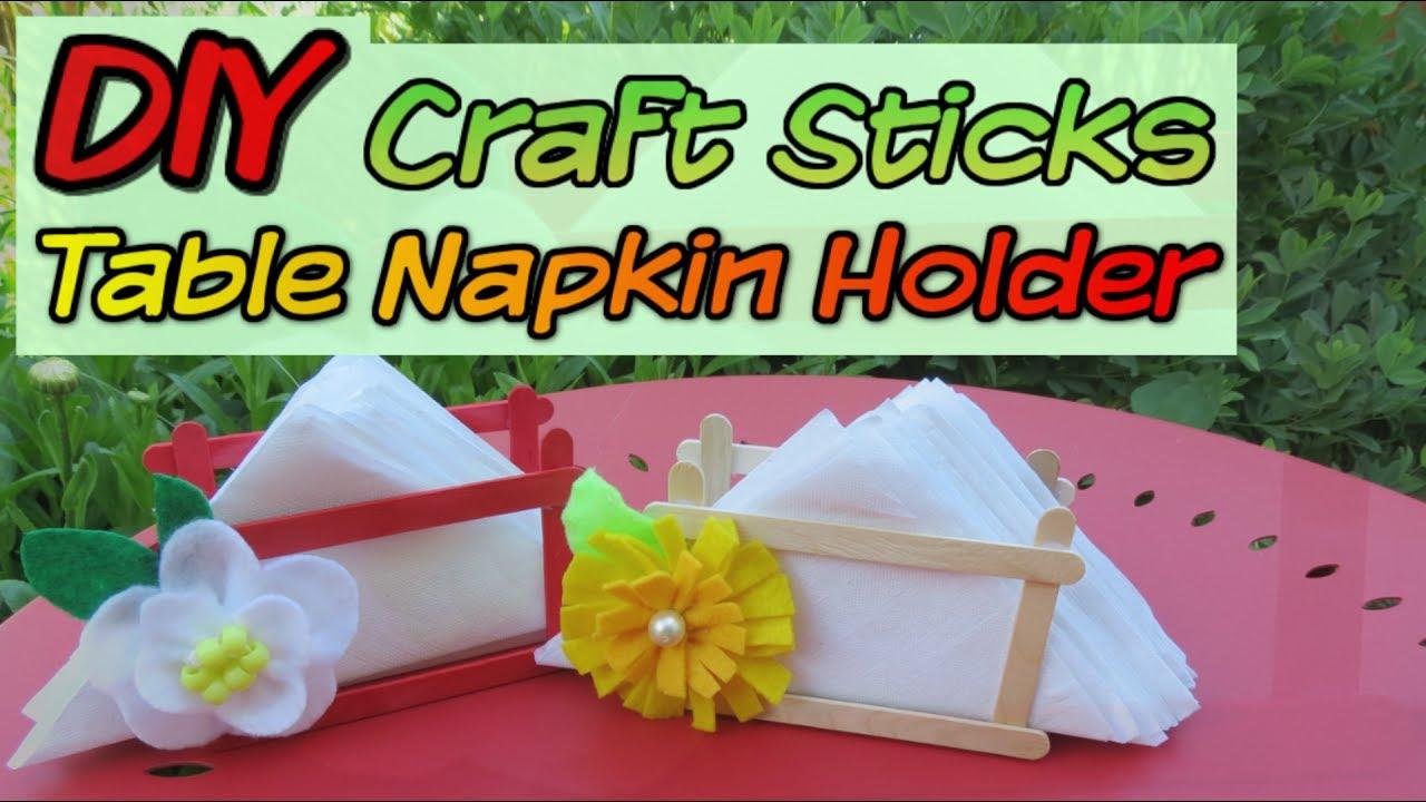 Affordable And Easy Table Napkin Holder Craft Sticks Diy