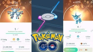 ¡CONSIGO 10 POKÉMON con SUERTE por INTERCAMBIO en Pokémon GO! ¿Saldrá algún 100% de IV? [Keibron]