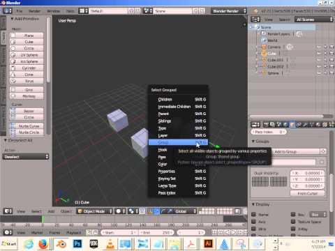 0108 Modeling I Blender (Grouping vs Joining)