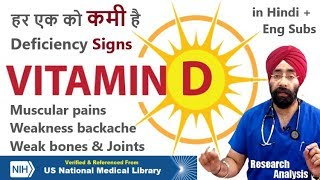 Everybody has VITAMIN D DEFICIENCY? Signs Symptoms & Treatment by Dr.Education (Hin + Eng Subs)