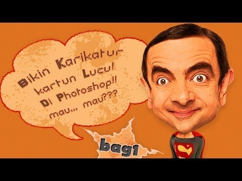 Bikin Karikatur Kartun Lucu di Photoshop bag1  YouTube