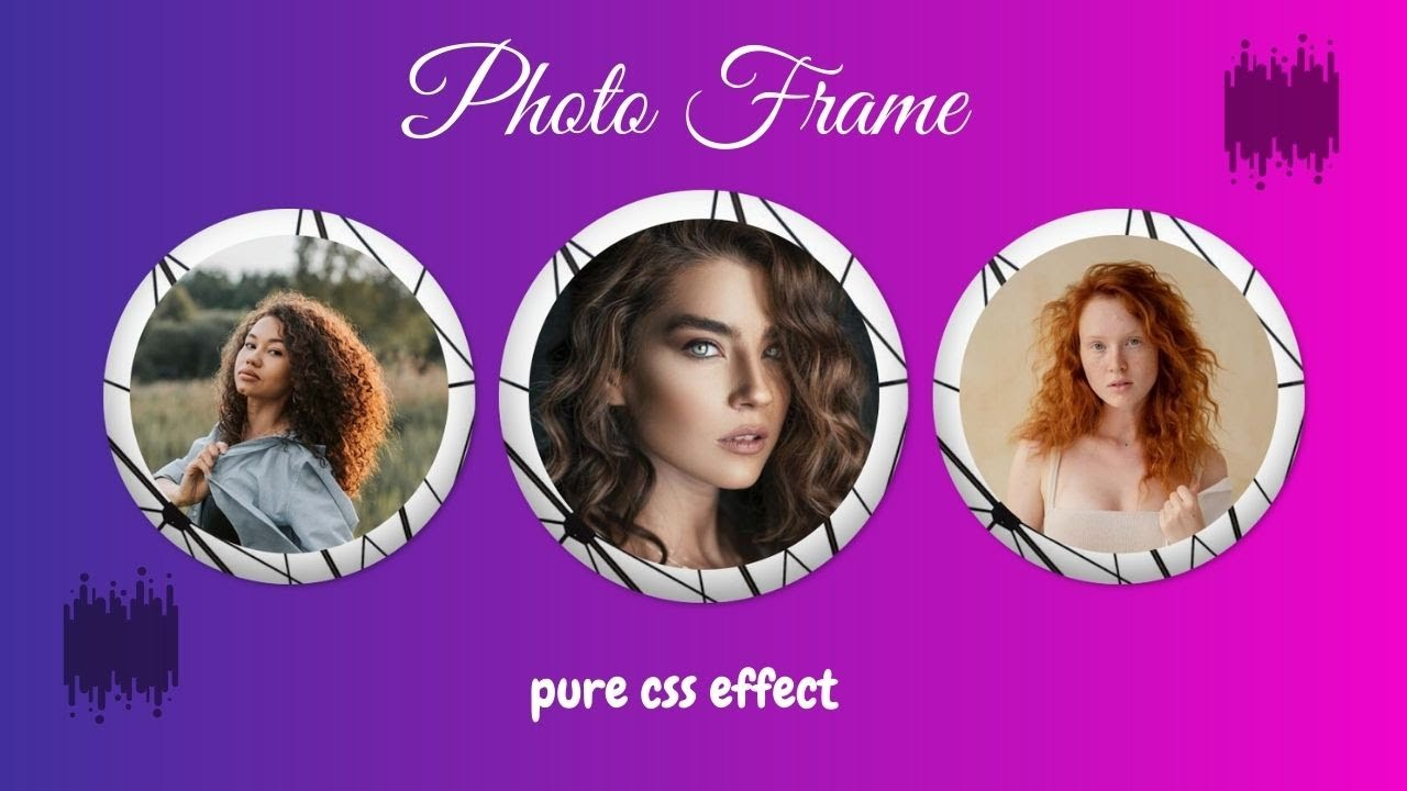 CSS Image with Photo Frame Effect | Pure CSS Effects