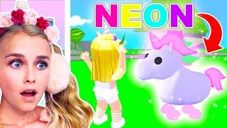 NEON UNICORN - How To Get A *FREE* Neon Legendary Unicorn In Adopt Me! (Roblox)