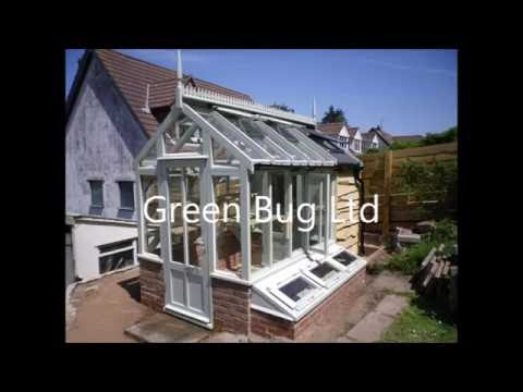 Greenhouse with attached cedar shed