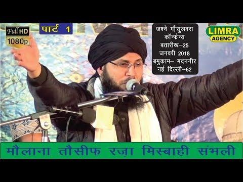 Maulana Tauseef Raza Misbahi Part 1,नई  दिल्ली 25 January 2018 Delhi HD India