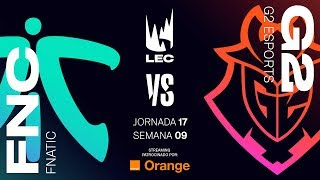 FNATIC VS G2 ESPORTS | LEC | Spring Split [2019] League of Legends