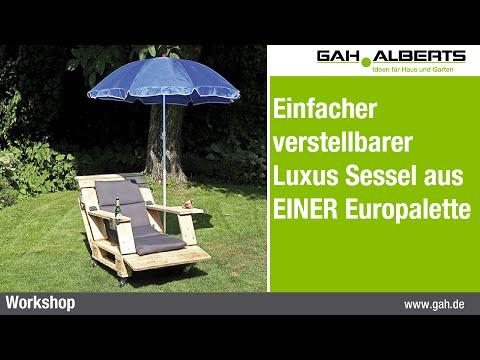 Einfacher verstellbarer Luxus Sessel aus EINER Europalette