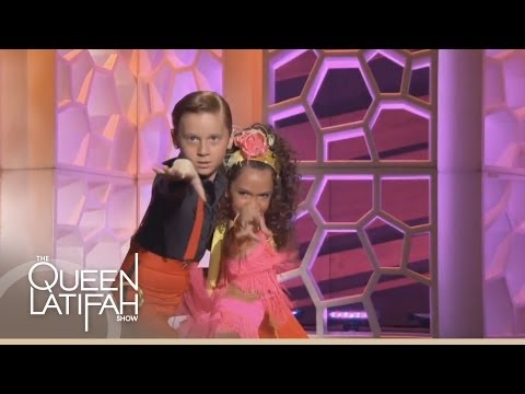 Nine-Year-Olds Yasha and Daniela Dance the Cha Cha on The Queen Latifah Show