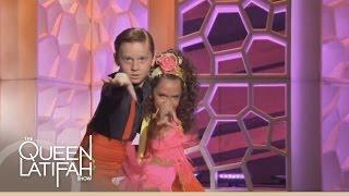 Nine Year Olds Yasha And Daniela Dance The Cha Cha On The Queen Latifah Show