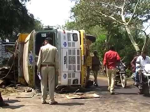Truck and Bus Road Accident Bilaspur Chhattisgarh