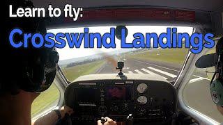 RECREATIONAL PILOT CERTIFICATE:  Flying Lesson #14 Crosswind Landings | Audio