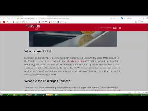 ABOUT LAXMI COIN (INDIAN CRYPTO CURRENCY) // & BITCOIN PRICE//